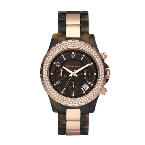 Michael Kors Ladies Watch MK5416 With Brown Dial And Two Tone Acrylic Bracelet