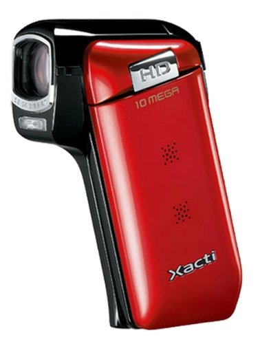 Sanyo Xacti CG10 Dual Camera HD Flash Memory Camcorder with 5x Optical Zoom (Red)