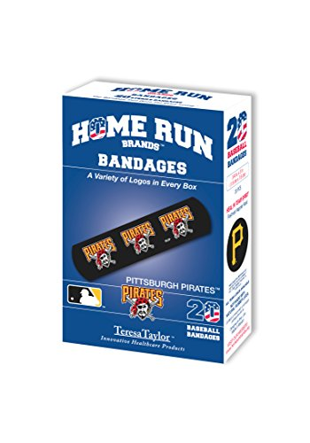 MLB Pittsburgh Pirates Bandages (6-Pack), One Size, Black