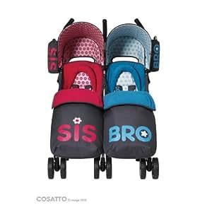 Cosatto You2 Twin Stroller, Sis-Bro