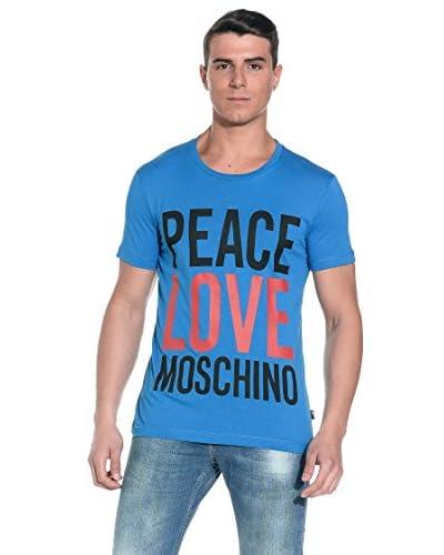 Love Moschino T-Shirt Manica Corta [Azzurro]
