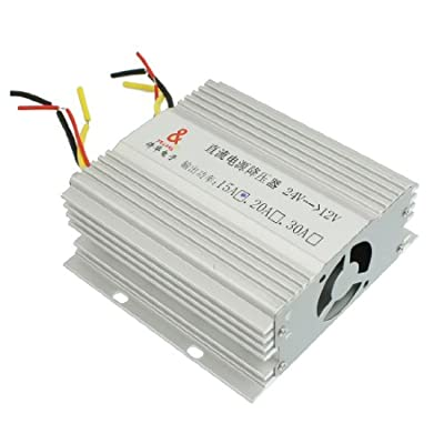 DC 24V to DC 12V 15A Truck Car Power Supply Transformer Converter