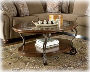 Traditional Medium Brown Nestor Cocktail Table