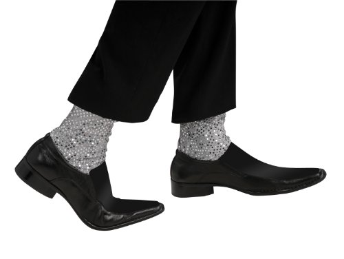 Michael Jackson Costume Accessory, Sparkle Sock Cuffs. Wear over your own socks.