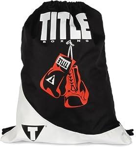 TITLE Boxing Gym Sack Pack, Black/White