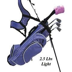 Linksman Golf 9-12 Year Old Girls Right Handed Junior Set w  Stand Bag by Linksman Golf