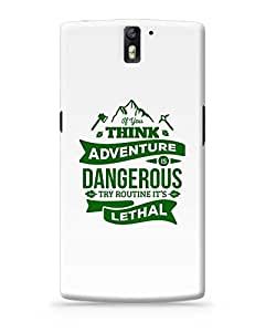 """PosterGuy OnePlus One Case Cover - """"If You Think Adventure . . . """" Quote in Green   Designed by: Codeburnerz Technologies"""