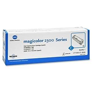 Konica Minolta 1710517-08 Cyan Toner Cartridge (2300DL Printer)