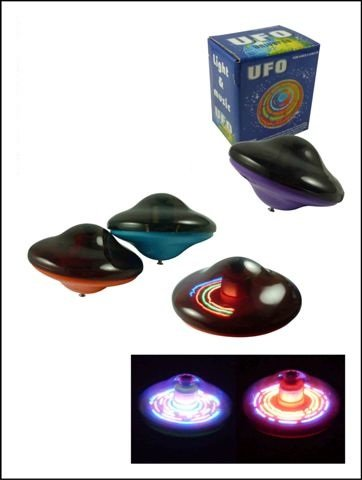 UFO Universe Light-up Musical LED Spinning Top - 1