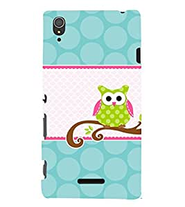 Owl Design 3D Hard Polycarbonate Designer Back Case Cover for Sony Xperia T3