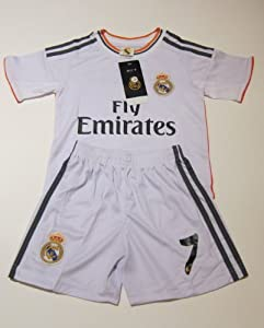 Buy KIDS CHILD REAL MADRID RONALDO NO.7 SOCCER FOOTBALL TEAM UNIFORM JERSEY & SHORTS YOUTH SETS by WRAPITPACKITZ