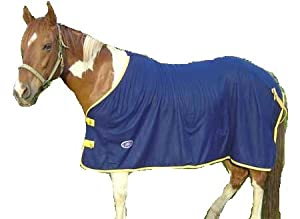 Derby Originals Horse Tack Fleece Cooler with Gold Trim - Navy 69""