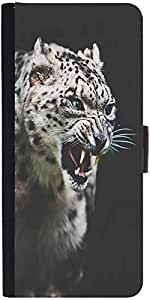 Snoogg Leopard Fury Designer Protective Phone Flip Case Cover For Redmi 2 Prime