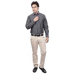 Sangam Apparels Regular Fit Black Mens Formal Shirt