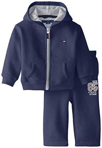 Tommy Hilfiger Baby Boys Draper Fleece Sweatsuit Set, Swim Navy, 9 Months