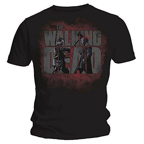 Walking Dead Logo Axed Zombie Originale T-Shirt - fino a 2XL - cotone, Nero, 100% cotone, Uomo, XXL 127cm