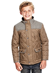 Funnel Neck Quilted Jacket with STORMWEAR™