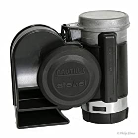 SUPER LOUD Stebel Nautilus Compact Twin Air Horn; Universal for Cars, Trucks, Boats, ATVS, Motorcycles and Scooters