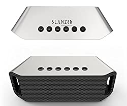 SLANZER Brand Premium Quality Bluetooth Speaker for Mobile, Tablet, Laptop, Computer & MP3 Player - Silver (SZS BT002SL)