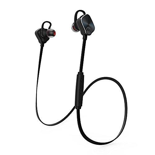 Mpow Magneto Auricolari Bluetooth 4.1 Wireless Stereo Cuffie Sport con Microfono e AptX, Headphone Vivavoce per iPhone 6s / iPhone 6s Plus, iPhone 6 / 6 Plus / 5 / 5c / 5s / 4s, iPad, iPod Touch, LG G2, Samsung Galaxy Note 4 / Note 3 / Note 2, S6 Edge + / S6 Edge / S6 / S5 / S4 / S3, Sony, Huawei ecc - Nero