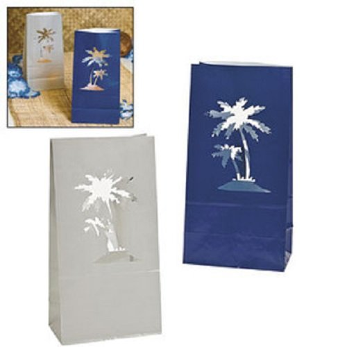 Palm Tree Luminary Bags - Party Decorations & Lighting & Special Effects by Fun Express