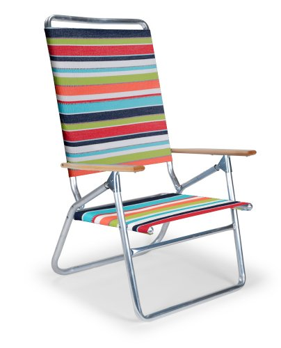 Telescope Casual Light 'N Easy High Boy Folding Beach Arm Chair, Isla