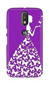 AMEZ designer printed 3d premium high quality back case cover for Moto G4 Plus (pink purple white girl princess)