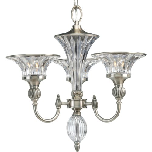 B0013CESXE Progress Lighting P4504-101 3-Light Roxbury Chandelier, Classic Silver