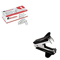 KITUNV00700VPUNV72220 - Value Kit - Universal Jaw Style Staple Remover (UNV00700VP) and Universal Smooth Paper Clips (UNV72220)