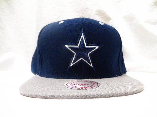**USED** Dallas Cowboys 2 Tone Grey & Navy Mitchell & Ness Snapback at Amazon.com