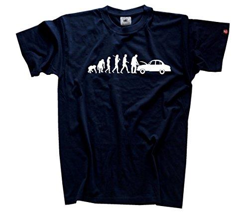 Shirtzshop-Maglietta da uomo meccanico auto officina Evolution, Navy, XL, SS Flash Shop-Evo _ automechn per T