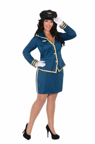 Forum Novelties Women's Plus-Size Cockpit Cutie Plus Size Pilot Costume
