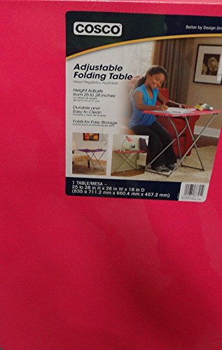 Cosco Adjustable Folding Table 25 to 28 In