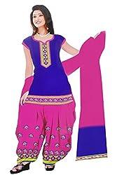 Dharmnandan Fashion Panghat Blue color Cotton Woman's Fancya Dress Material
