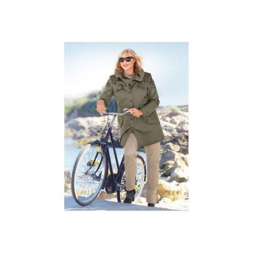 EMILIA LAY Parka Khaki Mantel Jacke Kapuzenjacke Große Größen Damen Gr. 50 Neu