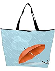 Snoogg Abstract Rainy Season Background With Waterdrops And Clouds Waterproof Bag Made Of High Strength Nylon - B01I1KISEA