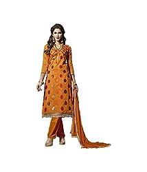 Fashiondiya Antra Chanderi Top, Cotton Bottom, Nazmin with Less Dupatta
