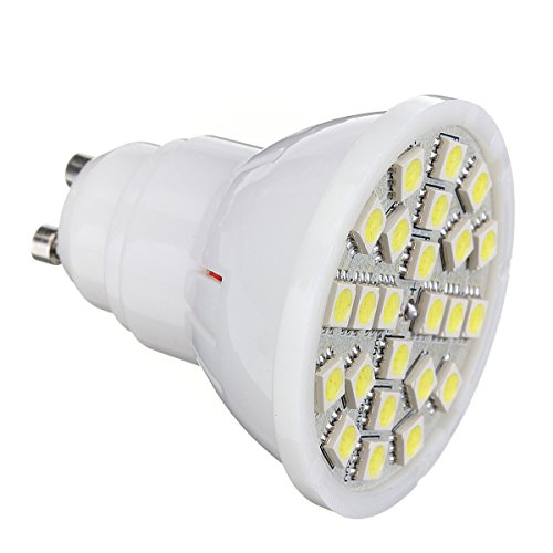 Kingso Ac 220V Pure White Gu10 5W 24-5050 Smd Led Energy Saving Spot Light Bulb Lamp