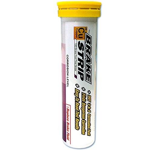 Phoenix Systems (3001-B) Brake Fluid Test Strips, 100 Test Strips Per Tube, BrakeStrip, FASCAR, Copper (95 Honda Accord Lx Brake compare prices)
