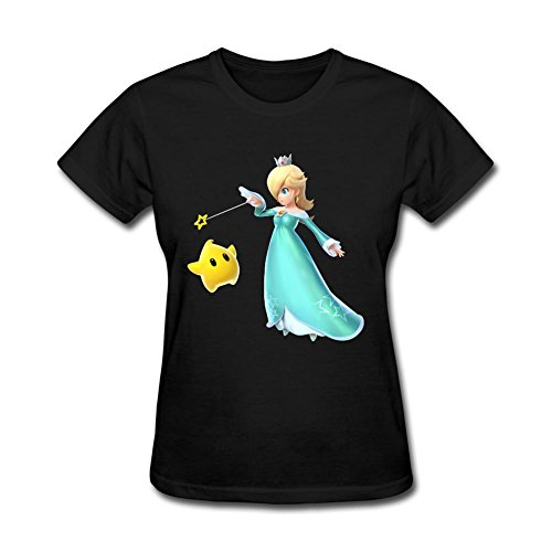 CHENGXINGDA Women's Super Mario Galaxy Rosalina Short Sleeve T-Shirt L ColorName