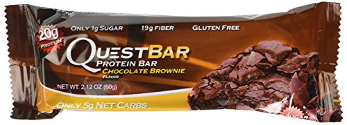 Quest Nutrition Protein Bars, Chocolate Brownie, 24 Count, 2.12 Ounce (Quest Nutrition Chocolate Brownie compare prices)