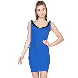 Species Women's A-line Dress (SJ-4089_Blue_Large)