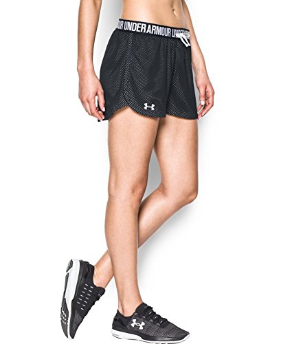 Under Armour Women's Play Up Mesh Short, Black (002), X-Small