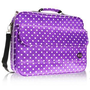 "15-17"" Purple Polka Dot Laptop Notebook Carrying Bag by Surelaptop"
