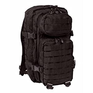 MOLLE US Assault Pack Military Patrol Ruckasck 30L Black from Mil-Tec