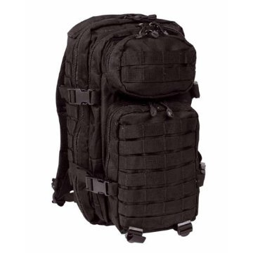 Mil-Tec Military Army Patrol Molle Assault Pack Tactical Combat Rucksack Backpack 30L Black