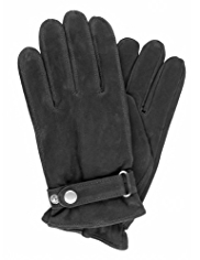 Leather Gloves with Adjustable Cuffs