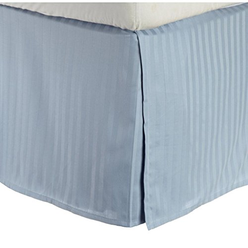 Conte Impressioni cotone egiziano 300 thread Twin Bed Gonna Stripe, Azzurro