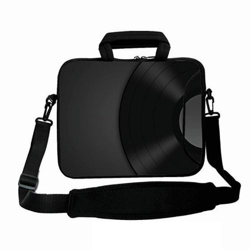 COOL BLACK Fashion Neoprene 17/17.3/17.4 inch Laptop Bag Sleeve Removable Shoulder Strap & Soft Carrying Handle with Extra Side Pocket For 17