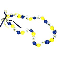 Buy NCAA San Jose State Spartans Go Nuts Kukui Nut Lei Necklace by Style Pasifika